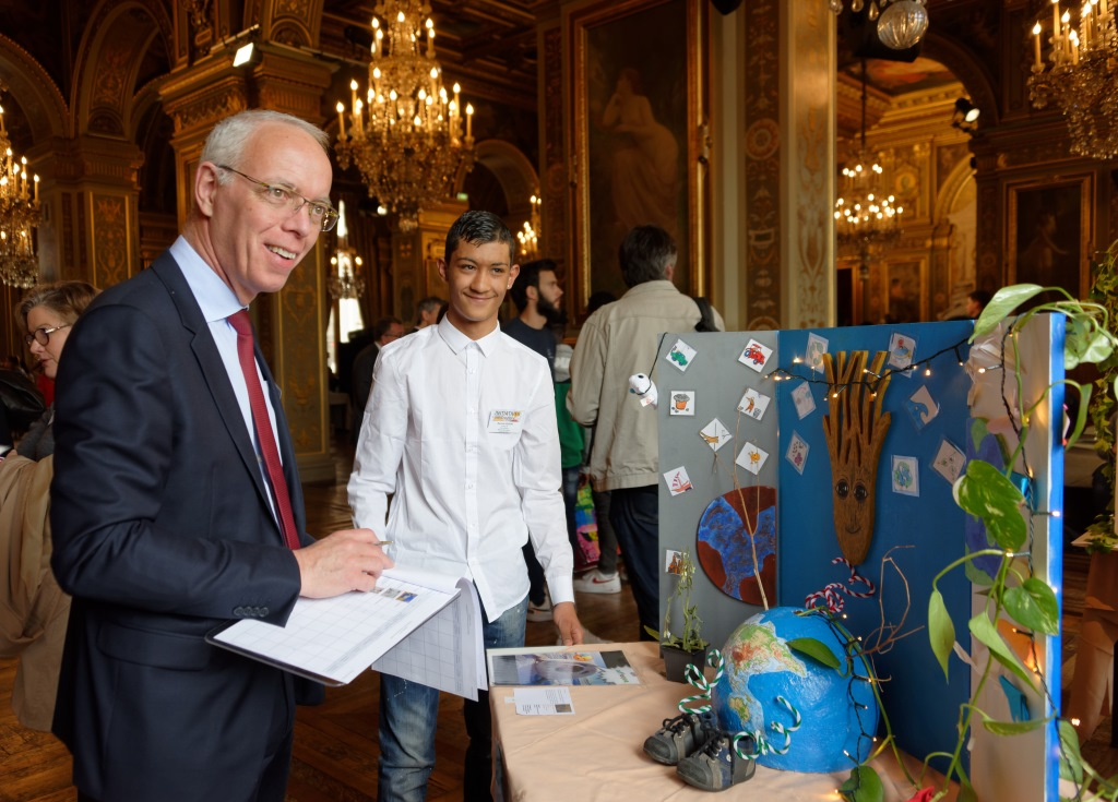 Apprentis d'Auteuil 2019 à l'Hotel de Ville © Laurence de Terline